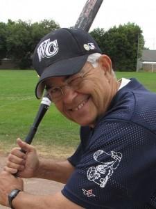 Larry batting