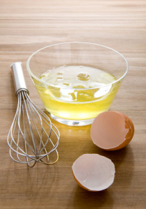 raw egg whites