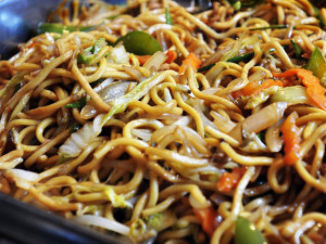 Gabe Souza/Staff Photographer: Photographed on Friday, July 8, 2011 for Eat & Run...No Chinese buffet would be complete with the standby, Vegetable Lo Mein, seen here at Asia Restaurant in South Portland.